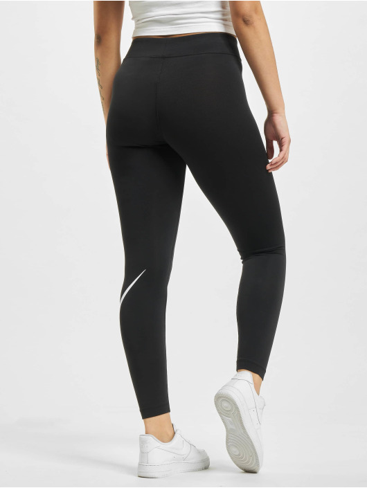 Nike Leggings/Treggings Sportswear Essential GX MR Swoosh svart