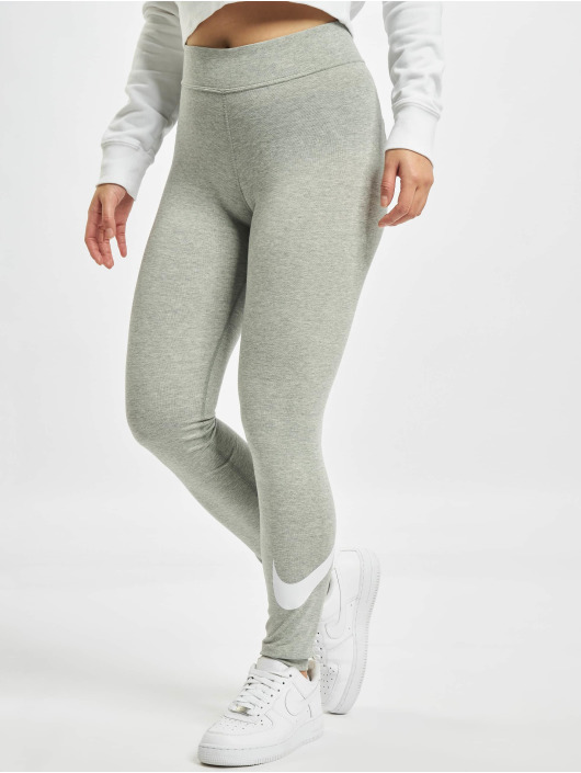 Nike Leggings/Treggings Sportswear Essential GX MR Swoosh szary