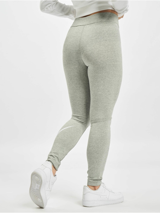 Nike Leggingsit/Treggingsit Sportswear Essential GX MR Swoosh harmaa