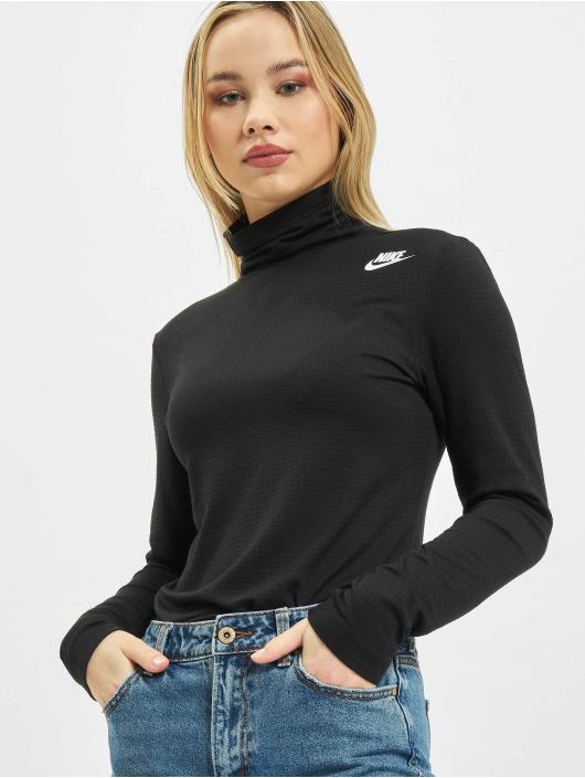 Nike Longsleeve Mock schwarz