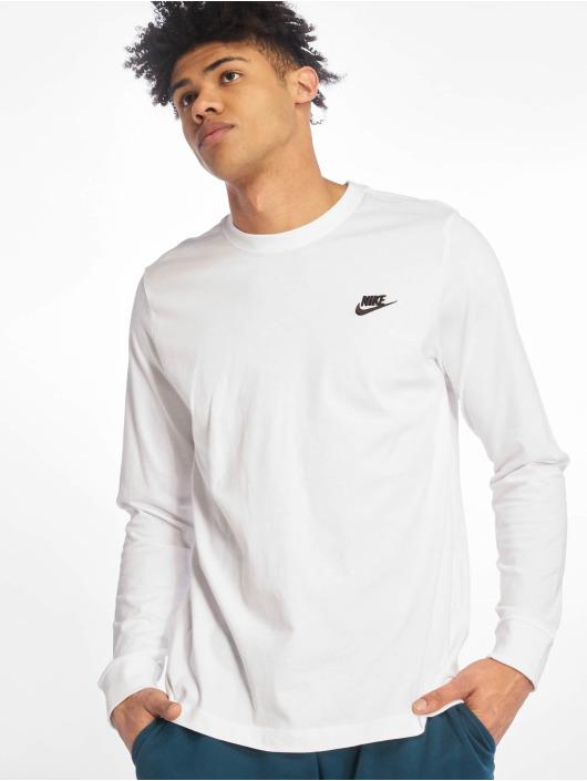 Nike Longsleeves Club LS bialy
