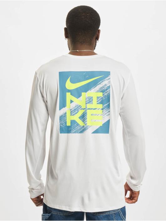Nike Longsleeves Dri-Fit bialy