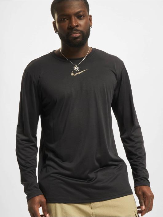 Nike Maglietta a manica lunga Dri-Fit nero