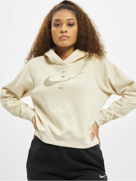Nike Mikiny Swoosh Fleece béžová