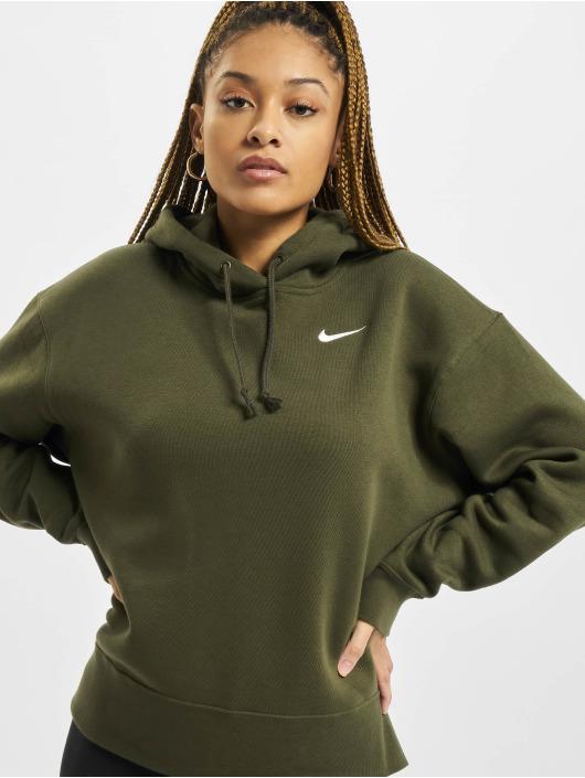Nike Mikiny Hoodie Flc Trend kaki