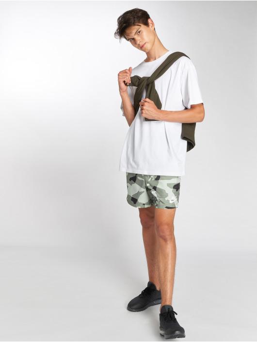 Nike Pantalón cortos Flow Camo gris