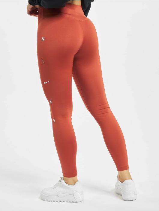 Nike Performance Леггинсы One 7/8 Length оранжевый