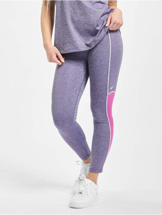 Nike Performance Леггинсы Space Dye пурпурный