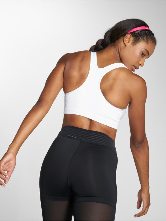 Nike Performance Спортивный бюстгальтер Swoosh белый