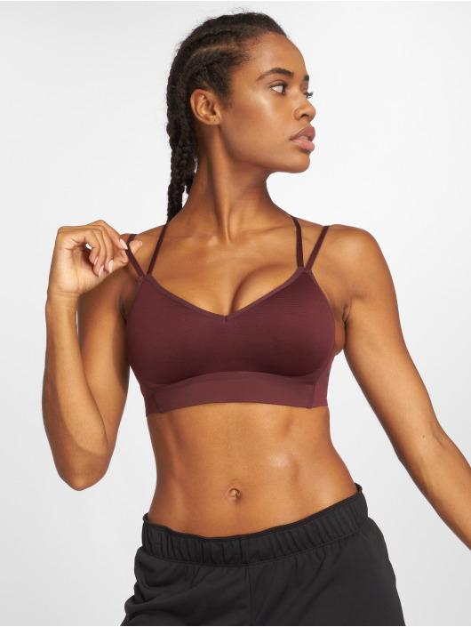 Nike Performance Спортивный бюстгальтер Indy Breathe красный