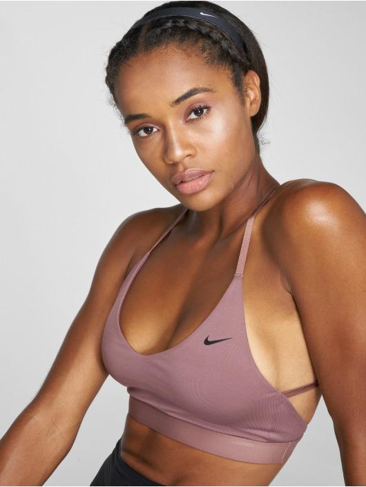 Nike Performance Спортивный бюстгальтер Indy Light пурпурный