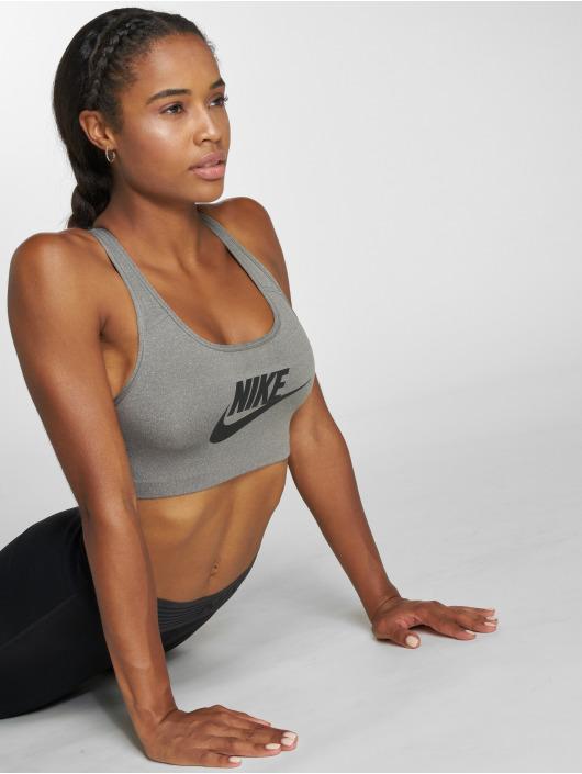 Nike Performance Спортивный бюстгальтер Swoosh Futura серый