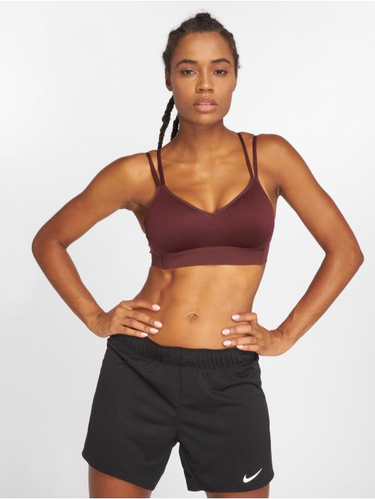 Nike Performance Biustonosz sportowy Indy Breathe czerwony