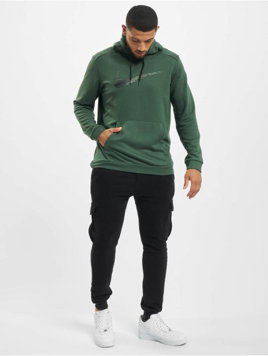 Nike Performance Bluzy z kapturem Swoosh zielony