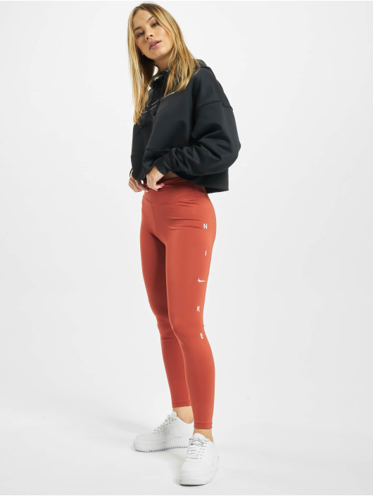 Nike Performance Leggings/Treggings One 7/8 Length pomaranczowy
