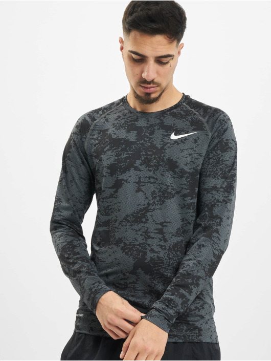 Nike Performance Longsleeve Top Slim Aop grau