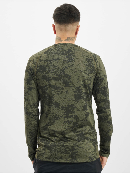 Nike Performance Longsleeve Top Slim Aop olive