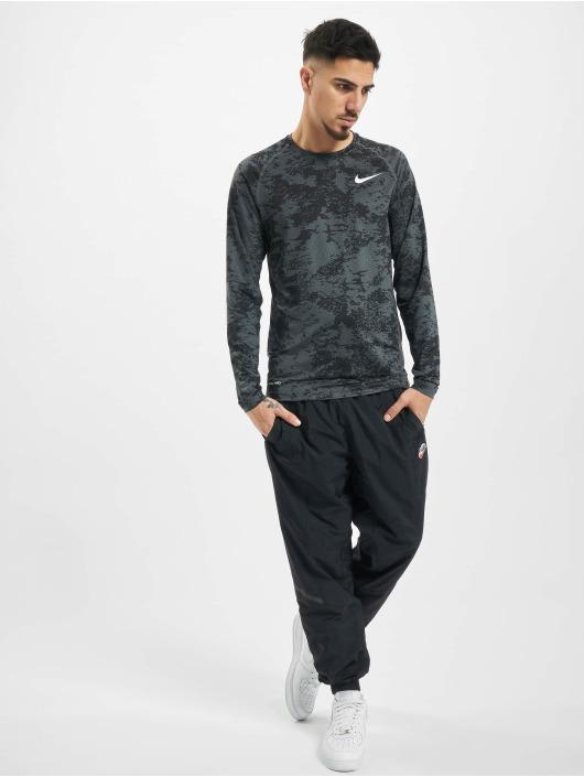Nike Performance Longsleeves Top Slim Aop szary