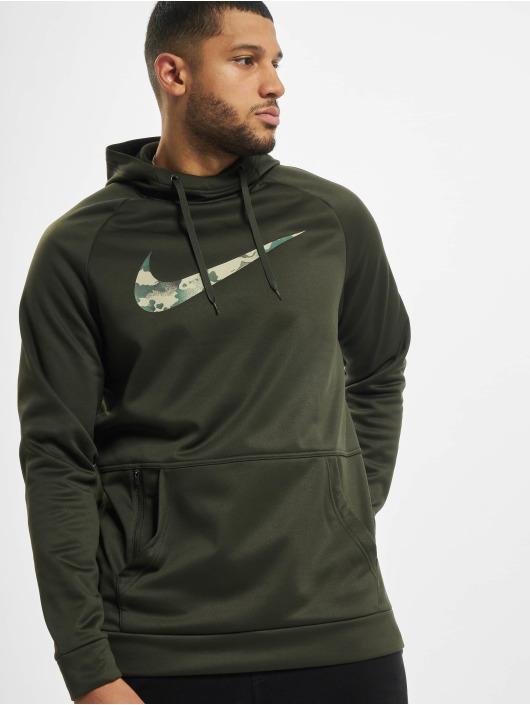 Nike Performance Mikiny Therma Camo 2 zelená