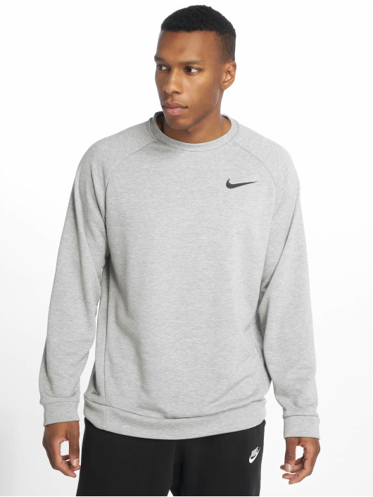 Nike Performance Sport Shirts Dry Fleece Crew grey