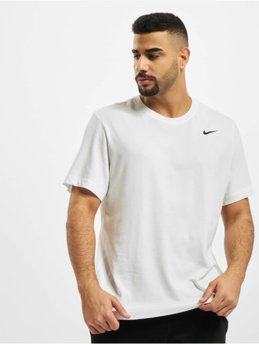 Nike Performance Sport Shirts Dry Crew Solid white