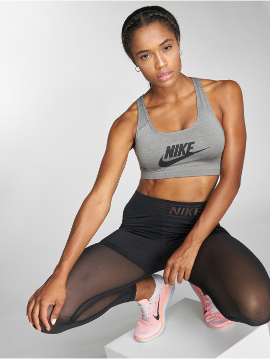 Nike Performance Sports Bra Swoosh Futura gray