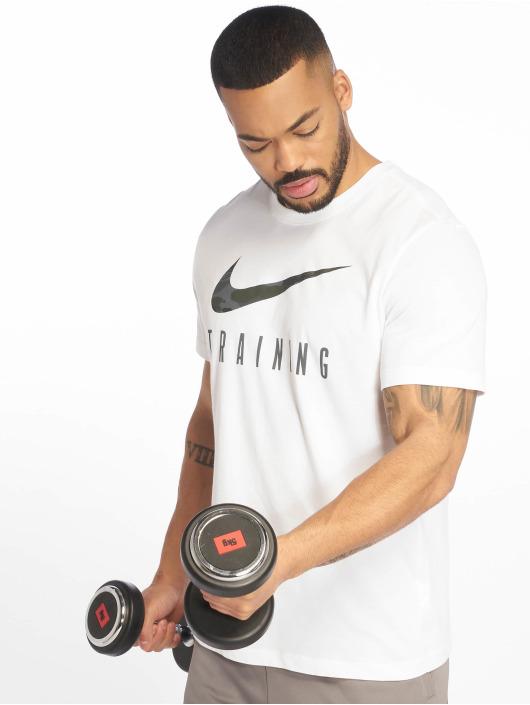 Nike Performance Sportshirts Dri-Fit Camo bialy