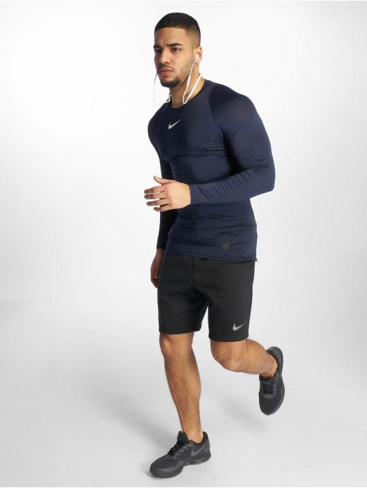 Nike Performance Sportshirts Pro Fitted modrá
