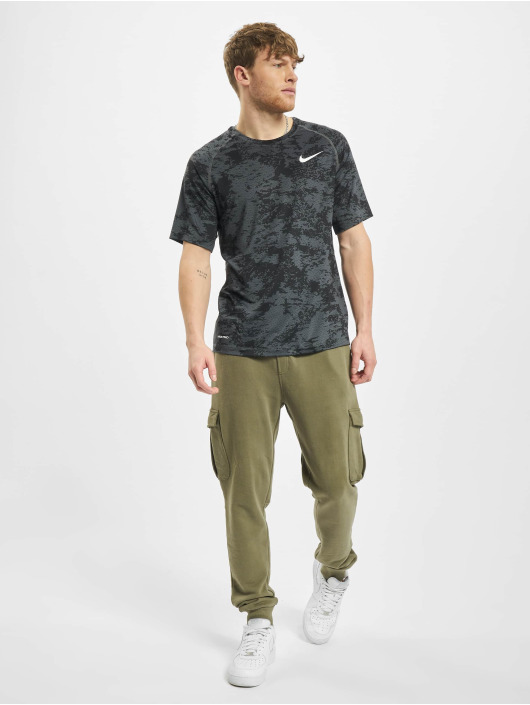 Nike Performance T-Shirt Top Slim Aop grey