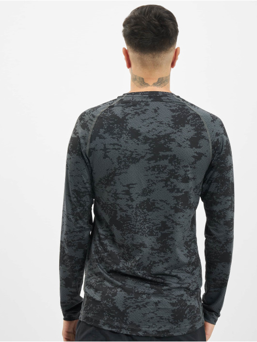 Nike Performance T-Shirt manches longues Top Slim Aop gris