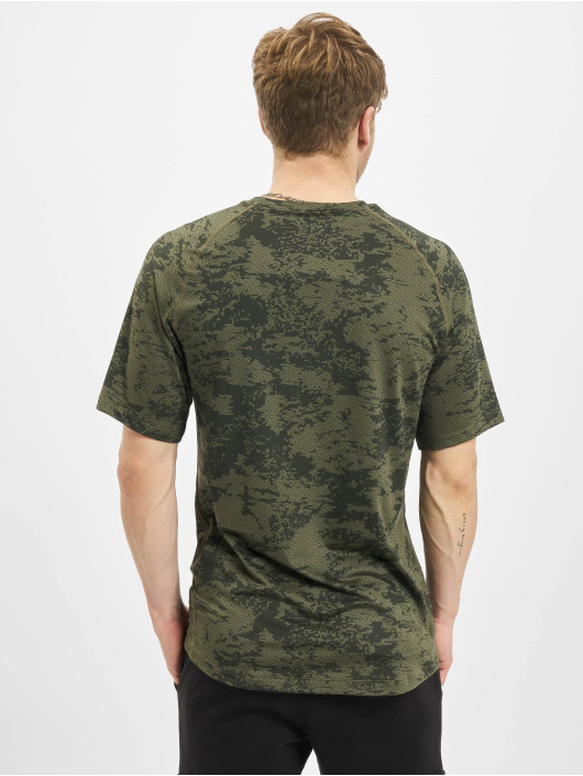 Nike Performance T-Shirt Top Slim Aop olive