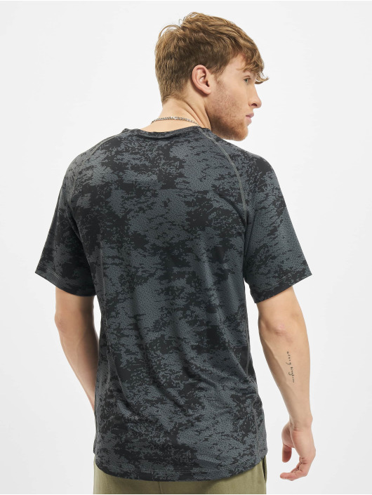 Nike Performance T-Shirty Top Slim Aop szary