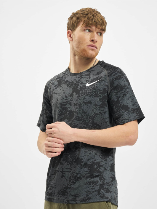 Nike Performance Tričká Top Slim Aop šedá