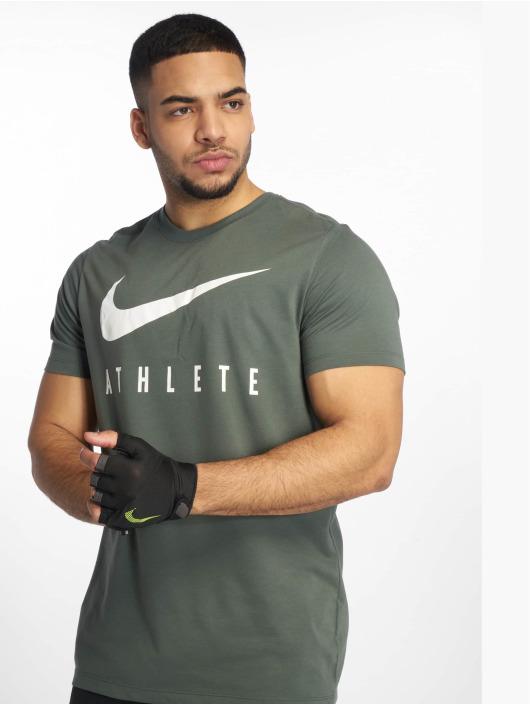 Nike Performance Urheilu T-paidat Dry DB Athlete vihreä