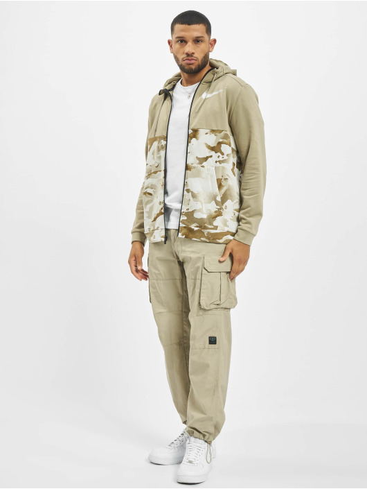 Nike Performance Zip Hoodie Dry Full Zip Camo brazowy
