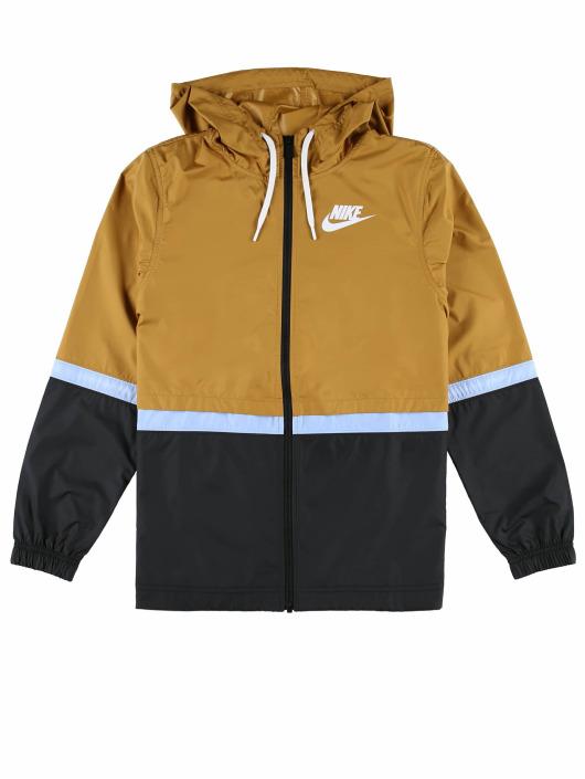 Nike Prechodné vetrovky Sportswear Wooven hnedá