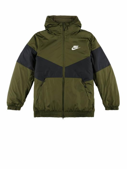 Nike Prechodné vetrovky Air Jacket olivová