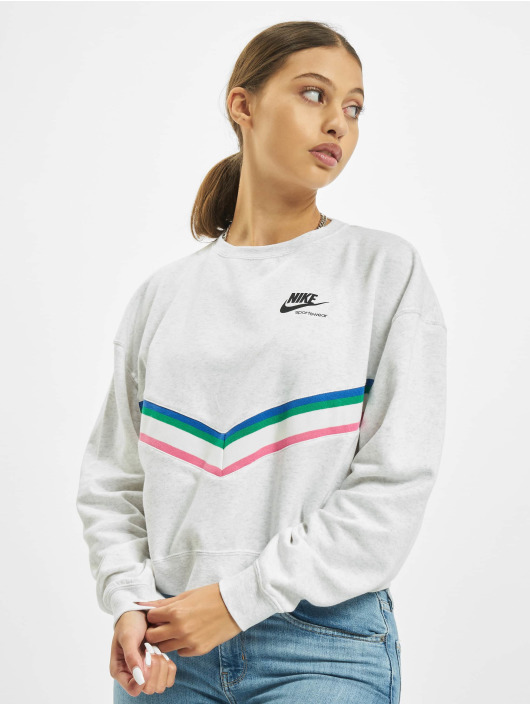 Nike Pullover Heritage Crew Fleece grau