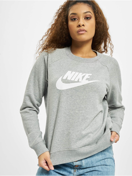 Nike Pullover Essential Crew Fleece HBR grau