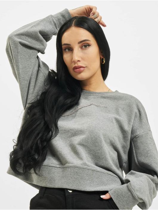 Nike Pullover W Nk Dry Get Fit Crew Swsh grau