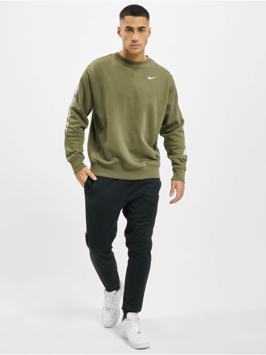 Nike Pullover Repeat Fleece Crew BB olive