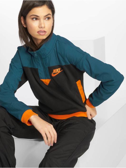 Nike Sportswear Sweatshirt BlackBlue ForceOrange Peel