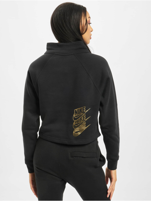 Nike Pulóvre Funnel 1/2 Zip BB Shine èierna