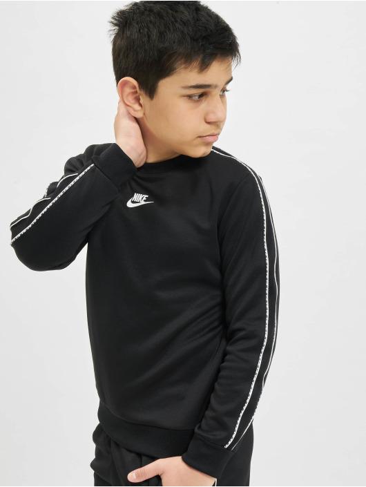 Nike Pulóvre Repeat PK Crew èierna