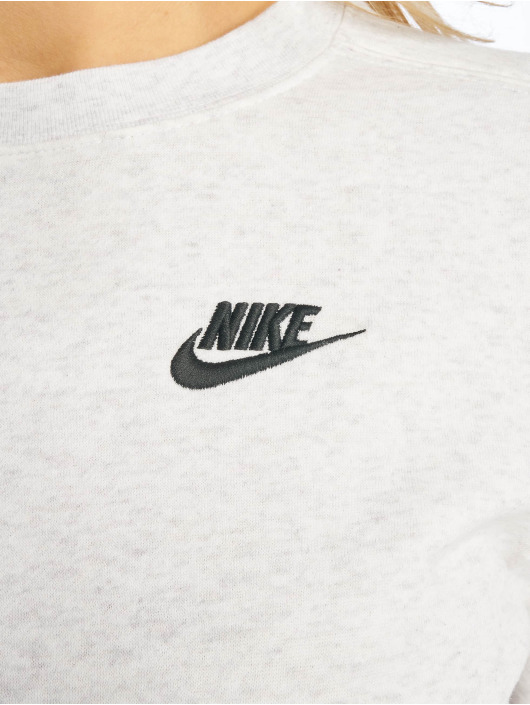 Nike Pulóvre Club Crew Fleece šedá
