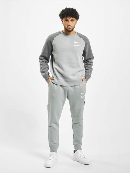Nike Pulóvre Swoosh Crew BB šedá