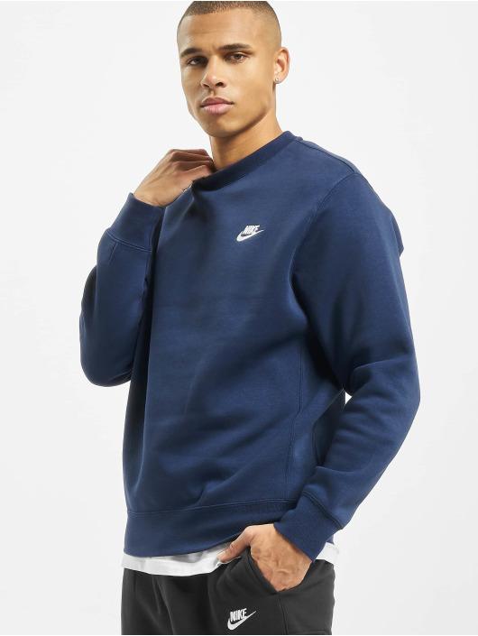 Nike Pulóvre Club Crew BB modrá