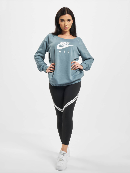 Nike Pulóvre Air Crew OS Fleece modrá