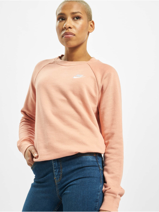 Nike Pulóvre Essential Crew Fleece pink