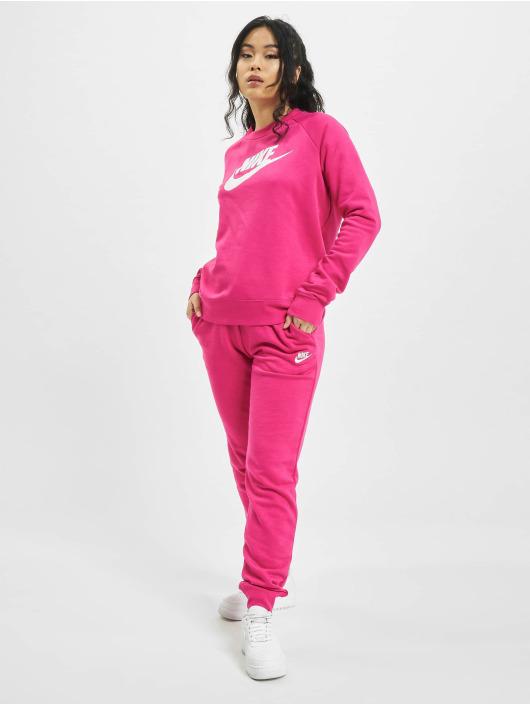 Nike Puserot W Nsw Essntl Flc Gx vaaleanpunainen